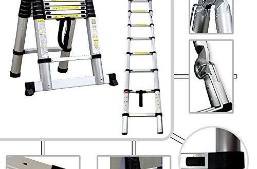2in1 Stufenleiter Teleskopleiter PRO 95 cm bis 380 Meter 500x330 - 2in1 Stufenleiter - Teleskopleiter PRO 95 cm bis 3,80 Meter aus Aluminium - Norm EN131