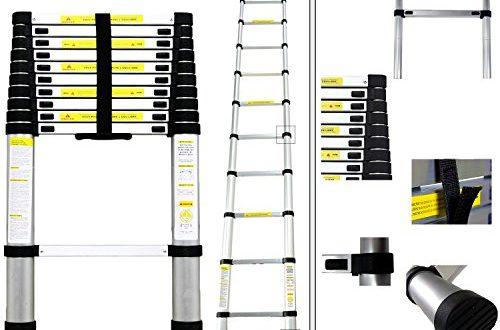 Teleskopleiter Pro 320 Meter aus Aluminium 11 Anti Rutsch Sprossen 500x330 - Teleskopleiter Pro 3,20 Meter aus Aluminium - 11 Anti-Rutsch-Sprossen