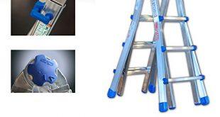 TeleskopleiterMultifunktionsleiter Equipe bis 525 m EQU55 ausziehbar Mehrzweckleiter Leiter 310x165 - Teleskopleiter/Multifunktionsleiter Equipe bis 5,25 m (EQU55) ausziehbar Mehrzweckleiter / Leiter aus Aluminium