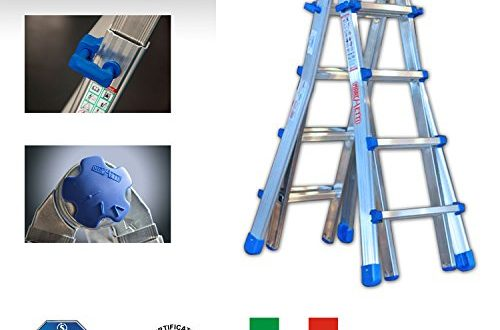 TeleskopleiterMultifunktionsleiter Equipe bis 525 m EQU55 ausziehbar Mehrzweckleiter Leiter 500x330 - Teleskopleiter/Multifunktionsleiter Equipe bis 5,25 m (EQU55) ausziehbar Mehrzweckleiter / Leiter aus Aluminium