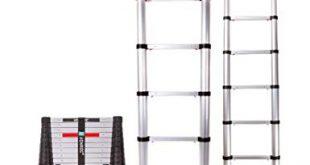 VONROC Profi Teleskopleiter 32 Meter gemaess DEKRA Zertifizierung und EN 131 310x165 - VONROC Profi Teleskopleiter 3,2 Meter, gemäß DEKRA-Zertifizierung und EN 131, sehr robust gebaut und montiert für Ihre Sicherheit – mit Softclose-System und Querträger für zusätzliche Stabilität
