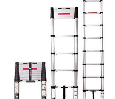 VONROC Profi Teleskopleiter 32 Meter gemaess DEKRA Zertifizierung und EN 131 385x330 - VONROC Profi Teleskopleiter 3,2 Meter, gemäß DEKRA-Zertifizierung und EN 131, sehr robust gebaut und montiert für Ihre Sicherheit – mit Softclose-System und Querträger für zusätzliche Stabilität
